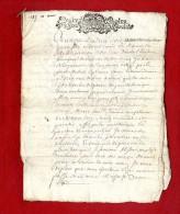 PROCES VERBAL DE DONNATION A DECHIFFRE  TESTAMENT 1687  REBLEYER   -  Manuscrit Document 16 Pages - Manoscritti