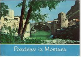 MOSTAR - BiH - Pogled Na Stari Most, View Of The Old Bridge - Bosnië En Herzegovina