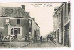 CPA (72) St Michel De Chavaigne - Place Marceau & Avenue De St Calais  . ( S 012) - France