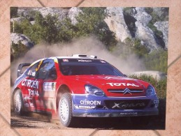 Auto E Moto- Da Calend. M. Marelli - Cm. 39x50-Citroen WRC-Xsara.- Retro Sauber F1-C23. - Sport