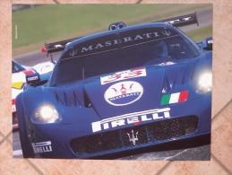 Auto E Moto- Da Calend. M. Marelli - Cm. 39x50-  Maserati GT- MC12-retro- Yamaha MotoGP -YZR M1. - Sport