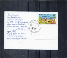 WALLIS Et FUTUNA - Timbres De Voeux : Père Noël Et Traîneau, Jeunes Wallisiens - - Covers & Documents