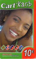 CARTE PREPAYEE  CONTACT TELECOM 10e  Cart'Karib 0057 - Antilles (Françaises)
