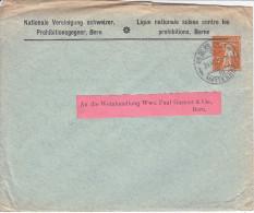 ENTIER- FILS DE TELL - LETTRE PRIVEE - LIGUE NATIONALE CONTRE LES PROHIBITIONS, BERNE - Interi Postali
