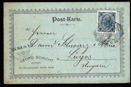 A3340) Austria Österreich Firmen-Zierkarte Von Aussig 25.3.1904 Nach Ungarn - Briefe U. Dokumente