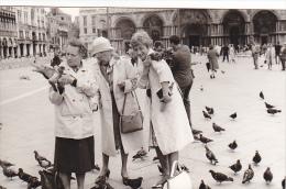 24465  Photo Venize Venezia Itale -Mai 1965 - Saint Marc Place  Femme Belge