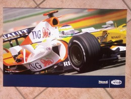 Auto E Moto - Da Calend. M. Marelli -cm. 38x60 - YamahaYZR-M1- GP2007.- Retro  - Renault F1 - R27. - Corse Di Auto