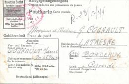 CPA...CARTE DE PRISONNIER..SIEHE RÜCKSEITE..  DECEMBRE 1944.. BE - Postmark Collection (Covers)