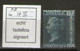 GB 1868: 2d Blue, Thick Lines, Pl. 12, Used, No Faults Signed H.Richter, Michel Spec. No. 17 I Y Pl. 12 - 1840-1901 (Viktoria)