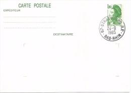 FRANCIA ENTERO POSTALMARIANNE 1.8 F - Enteros Postales