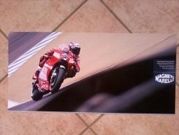 Auto E Moto - Da Calend. M. Marelli -cm. 29x60 - Ducati MotoGP Desmosedici GP9- Retro  GP2  SERIES. - Corse Di Auto