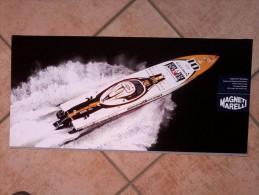 Auto E Nautica - Da Calend. M. Marelli -cm. 29x60 - Cigarette P1 Powerboat - Retro- Citroen WRC C4. - Corse Di Auto