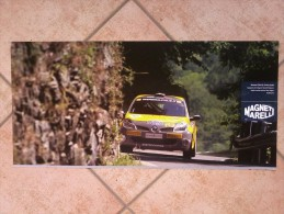 Auto E Moto - Da Calend. M. Marelli -cm. 29x60 - Renault Clio R3 Trofeo Italia-retro- Ducati WSBK  1198. - Corse Di Auto