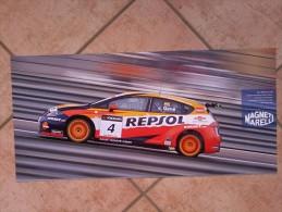 Auto E Moto - Da Calend. M. Marelli -cm. 29x60 - Seat WTCC Leon TDi- Retro-Ferrari  GT2 F430. - Corse Di Auto