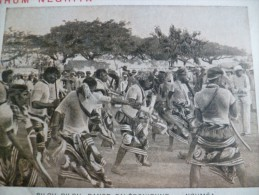 CPA Pub Rhum Négrita Messageries Maritimes Nouméa Pilou Pilou Danses Nouvelle Calédonie - Nueva Caledonia