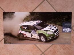Auto E Moto - Da Calend. M. Marelli -cm. 29x60 - IRC Skoda Fabia S. 2000- Retro- Ymaha MotoGPYZR-M1. - Corse Di Auto