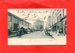 NANCY   1900  PLACE DU MARCHE AVEC LES HALLES   CIRC OUI EDIT - Nancy