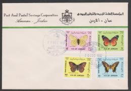Jordan,1992, Amman,Butterflies ,FDC.Cover. - Giordania