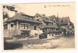 Coq S/Mer, Groupe De Villas, Circulée - Edit. R. Ghevaert-Vanaverbeke, Bazar Chantecler - 2 Scans - De Haan
