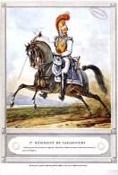 1er REGIMENT DE CARABINIERS  CARTE PUBLICITAIRE ILLUSTRATION CARLE VERNET - Uniformi
