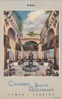 Florida Tampa El Patio Columbia Spanish Restaurant Curteich