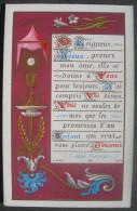 IMAGE PIEUSE MOREL N° 888 (chromo Fin XIXème) O SEIGNEUR JESUS PRENEZ MON AME 1ère COMMUNION CALICE & ENLUMINURE SANTINO - Andachtsbilder