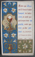 IMAGE PIEUSE MOREL N° 884 (chromo Fin XIXème) FAITES QUE JESUS SOIT... 1ère COMMUNION CALICE & ENLUMINURE SANTINO - Andachtsbilder