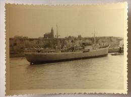 Photo 7x9,5 Cm - Navire X A Dieppe - Bateaux