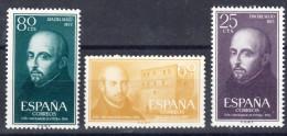 ESPAÑA 1955.CENTENARIO DE SAN IGNACIO DE LOYOLA .EDIFIL Nº 1166/1168. NUEVA SIN  CHARNELA .SES851 - 1931-Today: 2nd Rep - ... Juan Carlos I