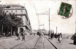 ALGER (Algerien) - Square Et Boulevard De La Republique, Strassenbahn, 1911 - Ohne Zuordnung