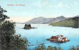 CORFOU (Griechenland) - Ile D'Ulysse, 1910, 2 Fach Frankiert, Karte Oben Mittig 1 Cm Eingerissen - Griechenland