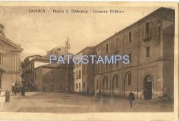 17798 ITALY COSENZA CALABRIA SQUARE S DOMENICO BARRACKS MILITARY  POSTAL POSTCARD - Italia