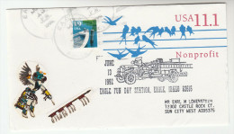 1992 USA Eagle Idaho Fun Day FIRE ENGINE EVENT COVER Pmk UPRATED Postal STATIONERY  Firefighting Firemen Stamps - Firemen