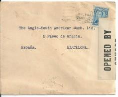 Colombie Pour L´espagne En 1918 Avec Censure !! Ameriquaine ... - Colombie
