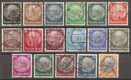 DR 1933 // Michel 512/528 O (3257) - Deutschland