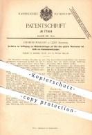 Original Patent - Charles Margot , Genf , Schweiz , 1894, Metallverzierungen Auf Glas O. Glasierten Tonwaren , Aluminium - Documents Historiques