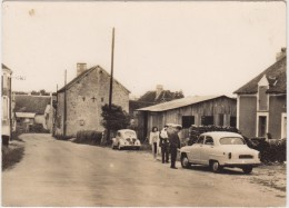 Villaines-la-Carelle. Une Rue Du Bourg. - France