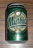 Cannette Vide Empty Can Hellenic Beer Bière Grecque Mythos 33 Cl - Cannettes