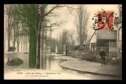 14 - CAEN - INONDATIONS DE 1910 - LE COURS CIRCULAIRE - Caen