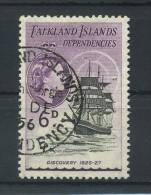 FALKLAND  ISLANDS  DEPENDENCIES   1954     6d  Black  And  Deep  Lilac    USED - Falklandinseln