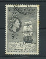 FALKLAND  ISLANDS  DEPENDENCIES   1954     9d  Black       USED - Falklandinseln
