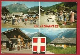 FXE-12  Les Lindarets Montiond, Multivues, Chèvres En Liberté.  Circulé Vers La Suisse - Other Municipalities