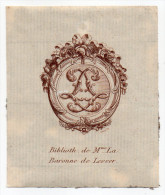 EX LIBRIS----Biblioth. De Mme La Baronne De Lesser (Louise De Marillac )----Stern Cr--Clermont Ferrand - Bookplates