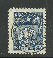 LATVIA Lettland 1923 DURBE Guter Stempel Auf Michel 95 - Lettonie