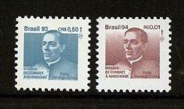 LSJP BRAZIL Campaign Against Evil Hansen Father Santiago Uchôa RHM 1879-1927 1993/4 MNH - Brazil