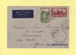 Abidjan - Cote D Ivoire - 9 Janv 41 - Controle Postal Commission D - 9 Janv 1941 - Côte-d'Ivoire (1892-1944)