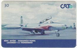 BRAZIL(CRT51) - Lockheed T-33 Thunderbird, 11/99, Used - Airplanes