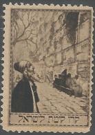 Jewish National Fund, 1909, Kaplove Catalog #38, Wailing Wall, Brown - Cinderellas