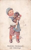 Germany 1913 Children Signed Card, Artist K Friertug, Boy And Dog, Sent To China Via Siberia - World