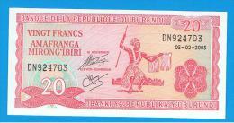 BURUNDI - 20 Francs 2005 SC  P-27 - Burundi